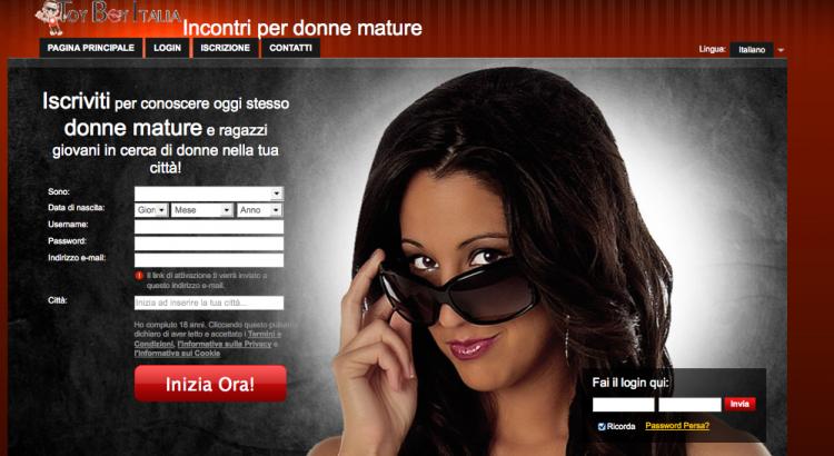 Milf e donne mature in cerca di giovani ragazzi: Toy Boy Italia